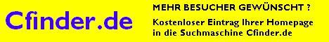 Cfinder - deutschsprachige Suchmaschine mit kostenlosem Linkeintrag